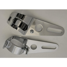 P&W Headlight Bracket Universal (Pair) 37-42mm (chrome)