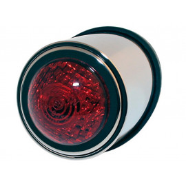 Shin Yo OldSchool TYP1 LED Motorcycle Rear Light (chrome) red Glass
