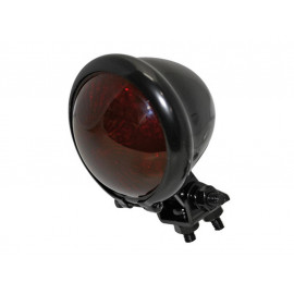 Shin Yo Bates-Style LED Motorcycle Rear Light (black) red Glass