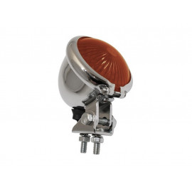 Shin Yo Bates-Style LED Motorcycle Rear Light (chrome) red Glass