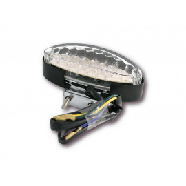 Shin Yo LED Motorcycle Rear Light 255-977 (clear/black)