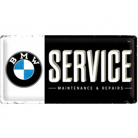 Nostalgic Arts BMW Service Metal Sign (25x50cm)