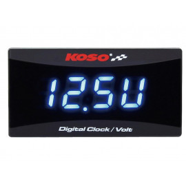 KOSO Volt Meter and Clock for 12 Volt DC batteries