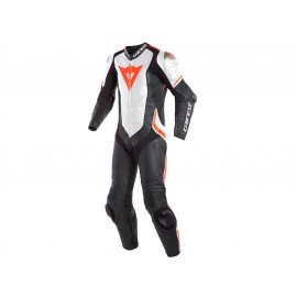 Dainese Laguna Seca 4 Leather Suit 1PC (black / white / neonred)