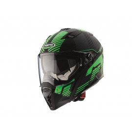 Caberg Stunt Blizzard Full Face Helmet (black matt/green)