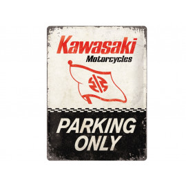 Nostalgic Arts Kawasaki Parking Only Metal Sign (30x40cm)