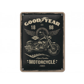 Nostalgic Arts Goodyear Motorcycle Metal Sign (15x20cm)