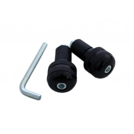 P&W Handlebar Weights (Pair) Alu milled for Steel-Handlebars (black)