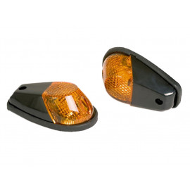 Shin Yo Fairing Motorcycle Turn Signal Set (black) yellow Glass