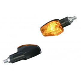 Shin Yo Imola 1 Short Motorcycle Turn Signal Set (black) yellow Glass