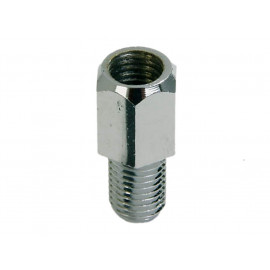 P&W Adapter for Mirror (chrome) M10 (Hole right-hand thread) to M10 (Bolt left-hand thread)